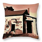 Old Abandoned House In Cape Breton Throw Pillow by John Malone