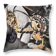 Old Abandoned Hydro Electric Powerhouse Throw Pillow