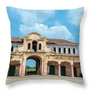 Old Abandoned Market Throw Pillow