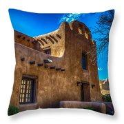Old Adobe Building Santa Fe New Mexico Throw Pillow