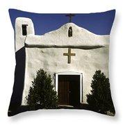 Old Adobe Church Throw Pillow