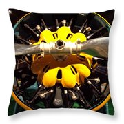 Old Airplane Propellers Throw Pillow