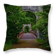 Old Alexandra Bridge Throw Pillow