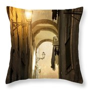 Old Alley Throw Pillow by Carlos Caetano
