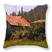 Old And Abandoned In The Country Throw Pillow