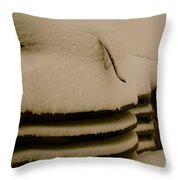 Old And Cold Throw Pillow