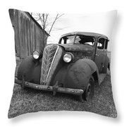 Old And Forgotten Black And White Throw Pillow