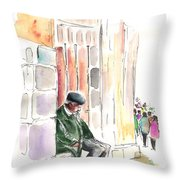 Old And Lonely In Salamanca Throw Pillow