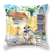 Old And Lonely In Tenerife 01 Throw Pillow