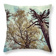 Old And Naked Throw Pillow