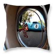 Old And New Ford Hotrods Throw Pillow