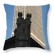 Old And New In The Windy City Throw Pillow