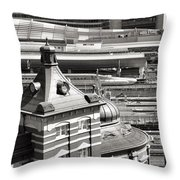 Old And New Tokyo Station Throw Pillow