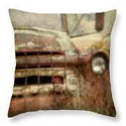 Old And Rusted Throw Pillow