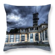 Old And Rusty Building Throw Pillow
