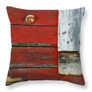 Old And Weathered Throw Pillow