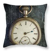 Old Antique Pocket Watch Throw Pillow