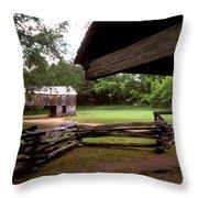 Old Appalachian Barn Yard Throw Pillow