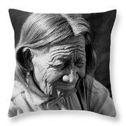 Old Arapaho Man Circa 1910 Throw Pillow