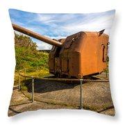 Old Artillery Gun - Ft. Stevens - Oregon Throw Pillow