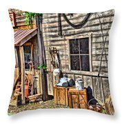 Old Bait Shop And Antiques Throw Pillow