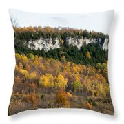 Old Baldy In Fall Throw Pillow