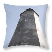 Old Baldy Lighthouse Nc Throw Pillow