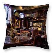 Old Bar In Charleston Sc Throw Pillow by David Smith
