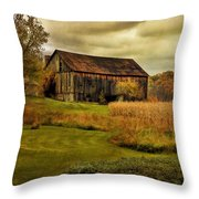 Old Barn In October Throw Pillow