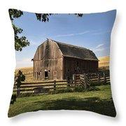 Old Barn On The Palouse Throw Pillow