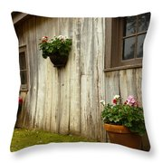 Old Barn Side Throw Pillow