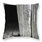 Old Barn Wall Throw Pillow