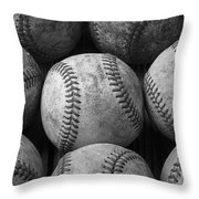 Old Baseballs Throw Pillow by Garry Gay