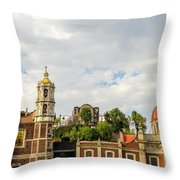 Old Basilica Of Guadalupe Throw Pillow