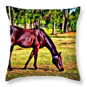 Old Bay Horse Throw Pillow