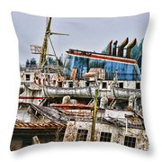Old B.c. Ferry Throw Pillow