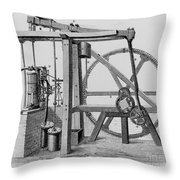 Old Bess Steam Engine Throw Pillow by SPL and Science Source