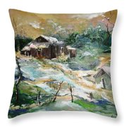 Old Bethpage Village Restoration Throw Pillow