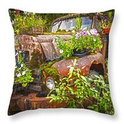 Old Truck Betsy Throw Pillow