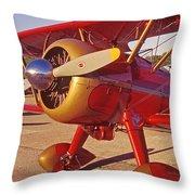Old Biplane I I I Throw Pillow