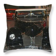 Old Black And White Hardtop Throw Pillow