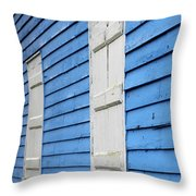 Old Blue House Throw Pillow