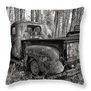 Old Blue In Sepia Throw Pillow