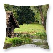 Old Boathouse Throw Pillow