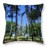 Old Bodcau Fire Tower In Louisiana Throw Pillow