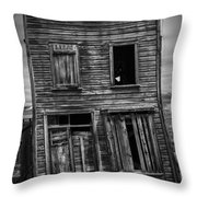 Old Bodie Building Throw Pillow