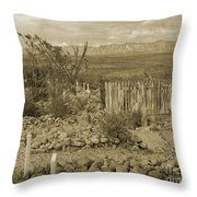 Old Boothill Cemetery Throw Pillow