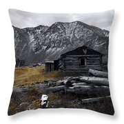 Old Boston Mine Throw Pillow