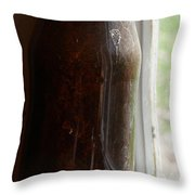 Old Bottle In The Window Throw Pillow