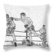 Old Boxing Old Time Throw Pillow